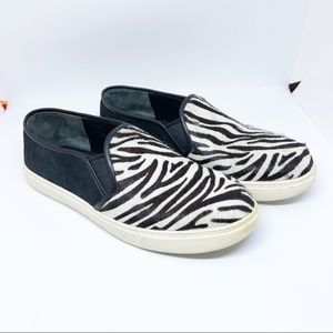 Cole Haan Zebra Fur Slip On Sneakers